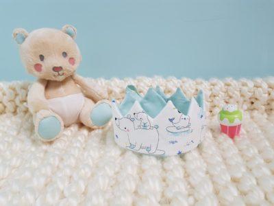 Couronne bébé banquise bleue