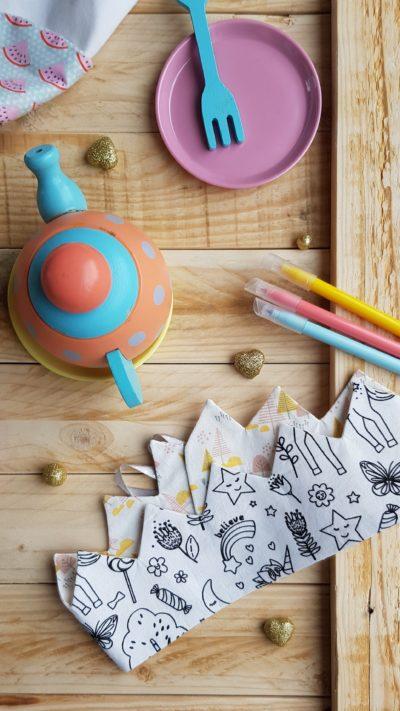 Couronne à colorier licorne Petite foret