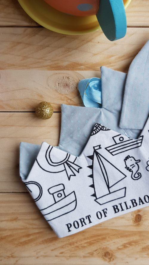 couronne à colorier marin petit pois bleu