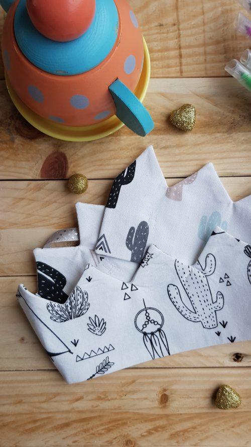 couronne à colorier cactus piquant