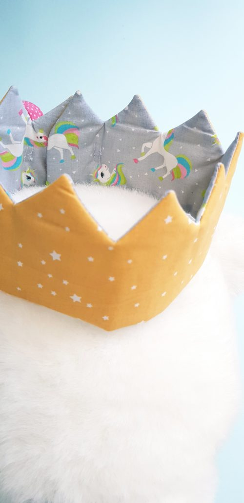 couronne enfant licorne étoilée detail