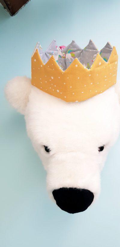 couronne enfant licorne étoilée
