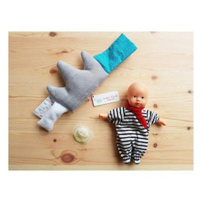 coussin d'eveil bébé bleuté