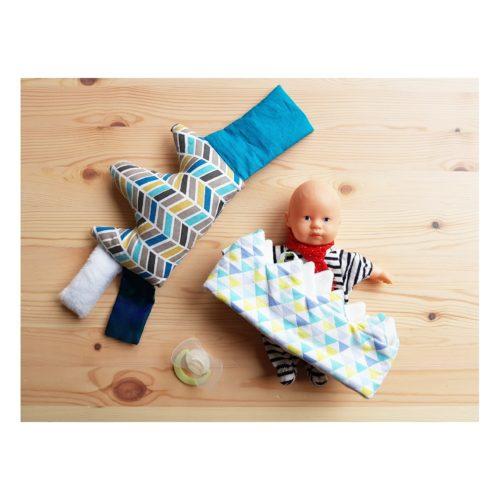 coussin d'éveil sensoreil bébé graphique