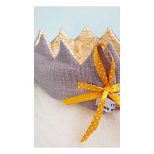 couronne enfant gris origami detail