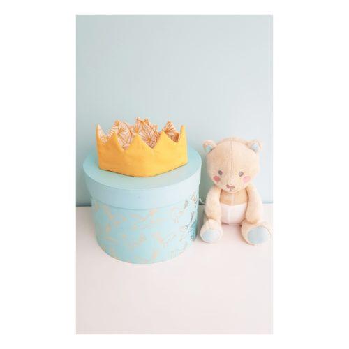 couronne bebe etoile et origami